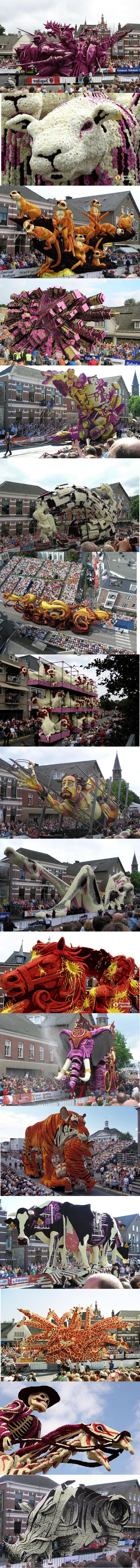 Flower Sculpture festival-Description. Huge Flower Sculpture Festival in the Netherlands..
