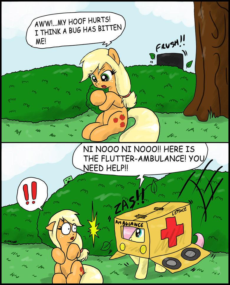 Flutter-Ambulance. Flutter-Ambulance is best ambulance! Full credit to CIRILIKO on deviantart - . NI NI !! HERE IS Fluttershy ambulance Applejack