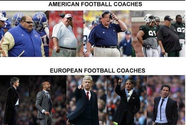 Football vs football. . AMERICAN FOOTBALL COACHES EU RAPEIN