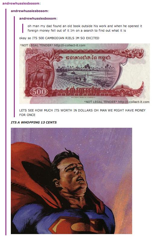 "Foreign money. wooooooooooooooooow. oh man ' g dad found an alt! bank: ', ms Mme and when he It g fell out of It "" an a search to: iiqrm out what It Is aka? Lew"