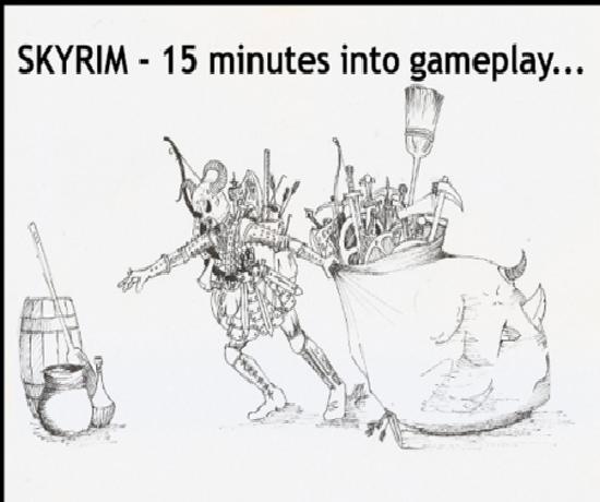 Freakin Skyrim. SKY REALM. SKYRIM - 15 minutes into gameplay.... SKYRIM - fifteen minutes into gameplay... fus ROH duh