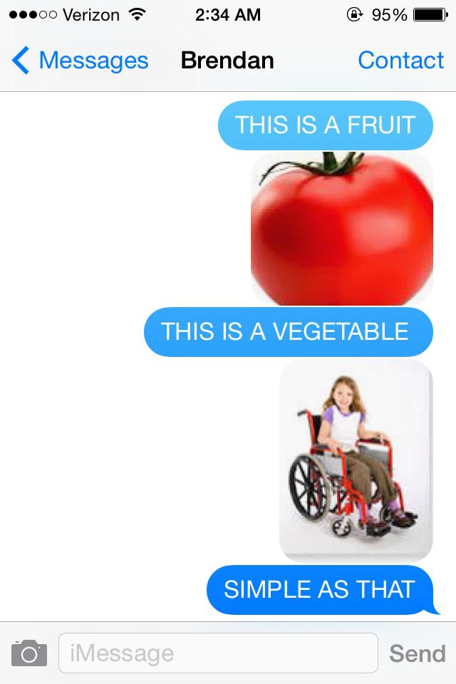 Fruits vs. Vegetables