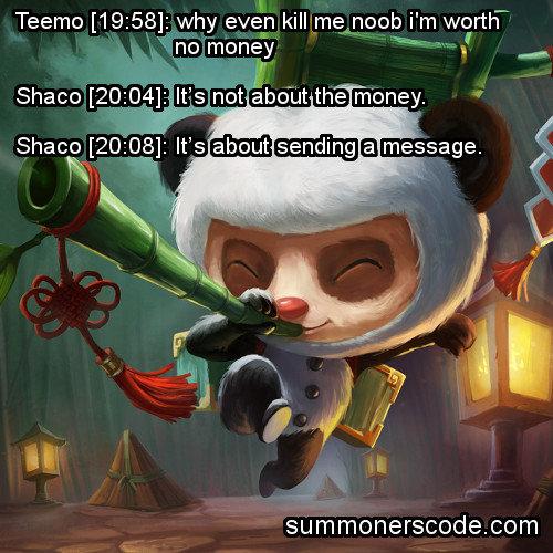Fuck Teemo. Clever description. funny tags