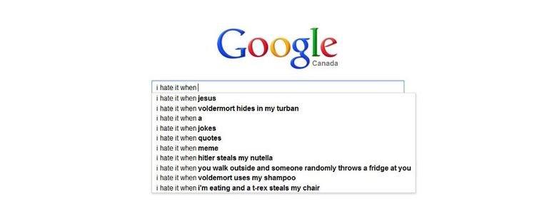 "Fuckin' Google. .. ""i hate it when jesus"" me too. Google"