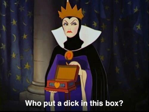 Fuckin' Samberg. . Who put a dick in this box? snow white dwarf Disney lil wayne