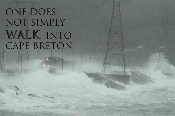Fuckin Weather. Canso cause way from mainland Nova Scotia into Cape Breton Island. cape breton