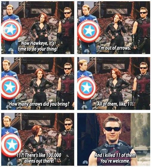 "Fucking Hawkeye. He's right you know.... iria"" uti. 1.. Original Hawkeye"