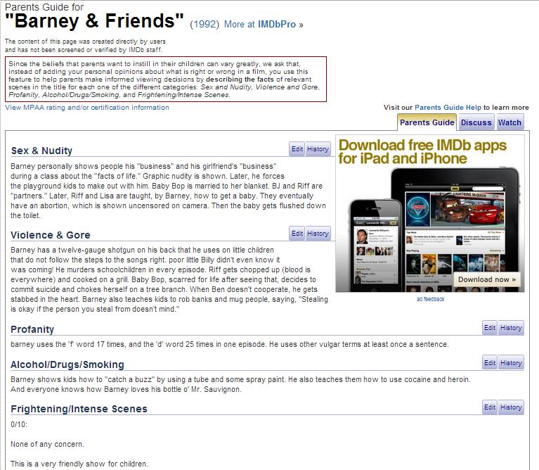 Fucking Barney. <3. fucking barney