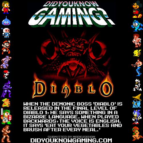 Fucking Diablo. .. I KNEW IT !!! I KNEW MY DAD IS THE DEVIL!!!