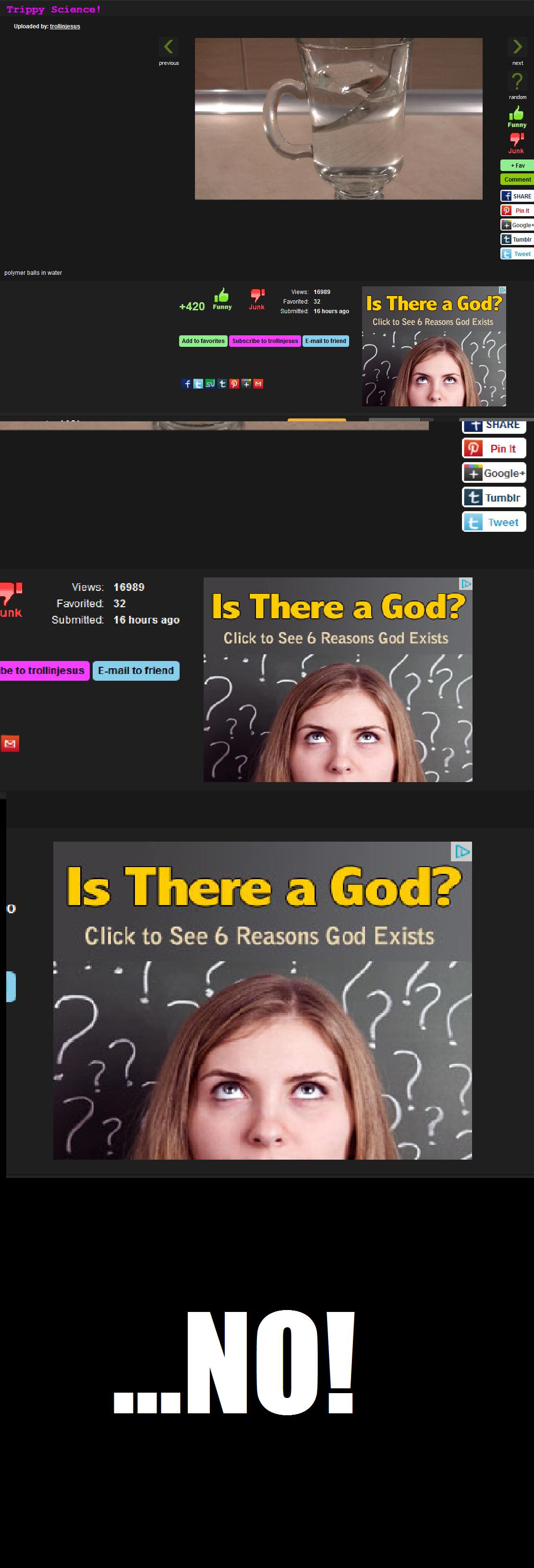 "Fucking FJ Adverts!. .. LOL ""reasons god exists"" Just no"