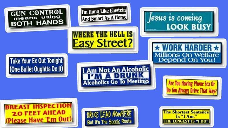 Bumper Stickers For Cars Funny Funny Bumper Sticker