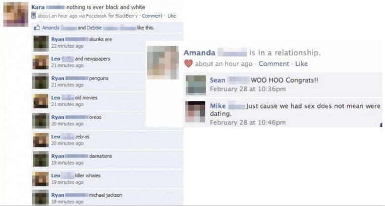 Funny dating facebook status