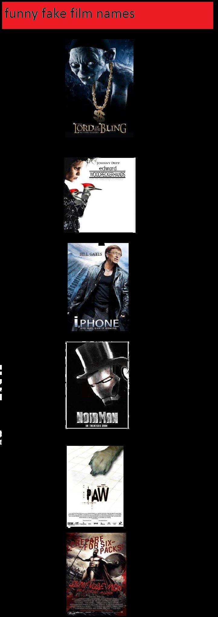 funny fake film names. . In if in Paar EDIE