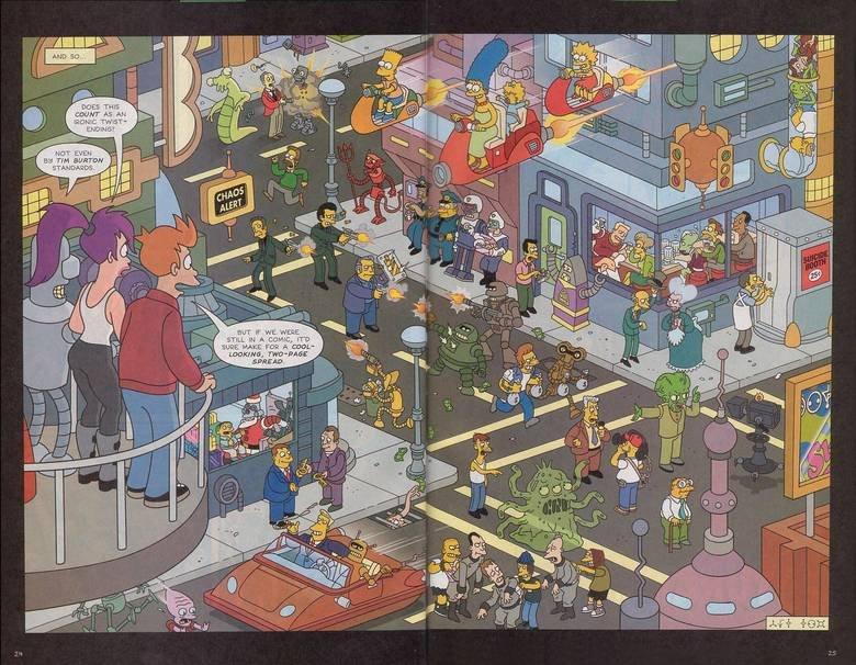Futurama Vs. The Simpsons. Small world..