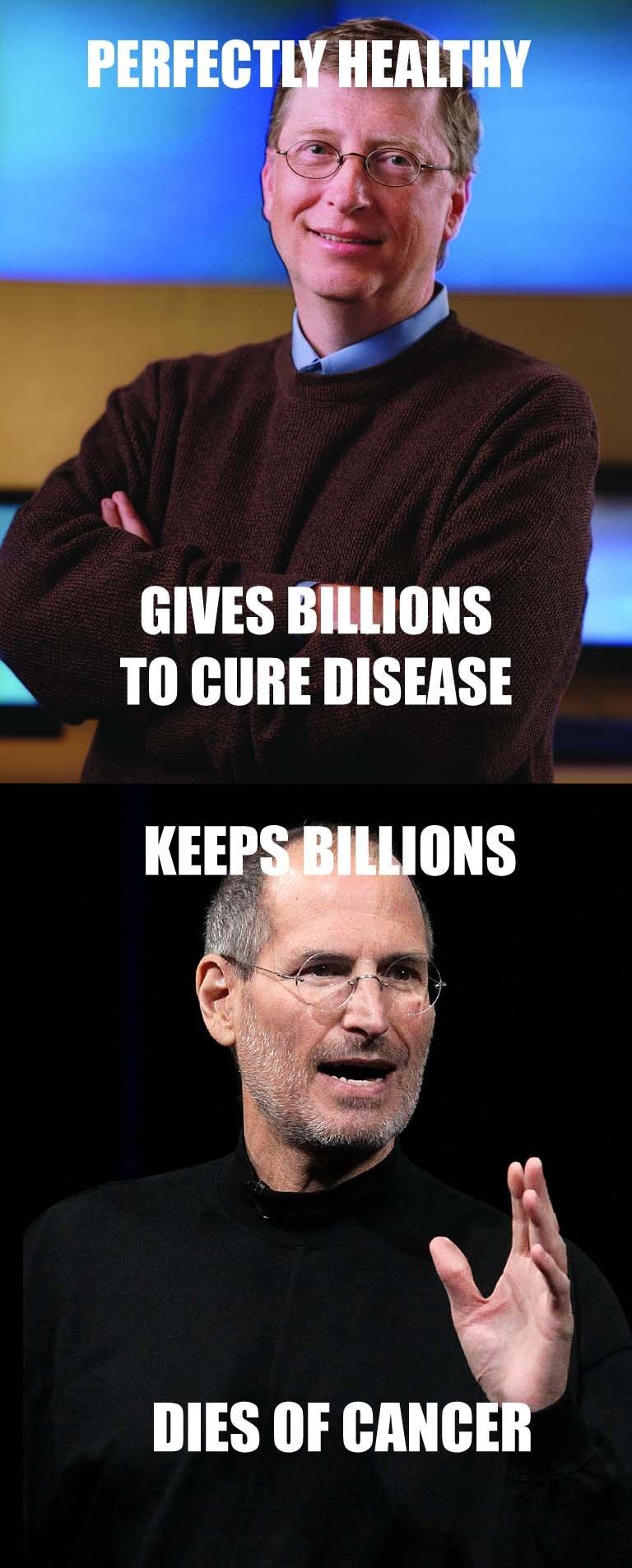 GGG vs Scumbag Steve. Good Guy Gates vs. Scumbag Steve Jobs.. Karma's a bitch, huh?