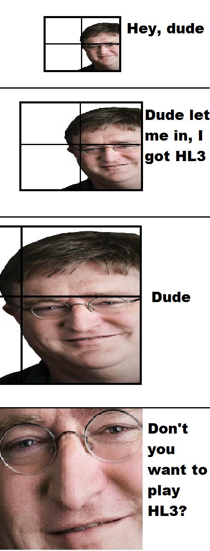 Gaben. Best MS paint skills around! OC. Gabe Newell