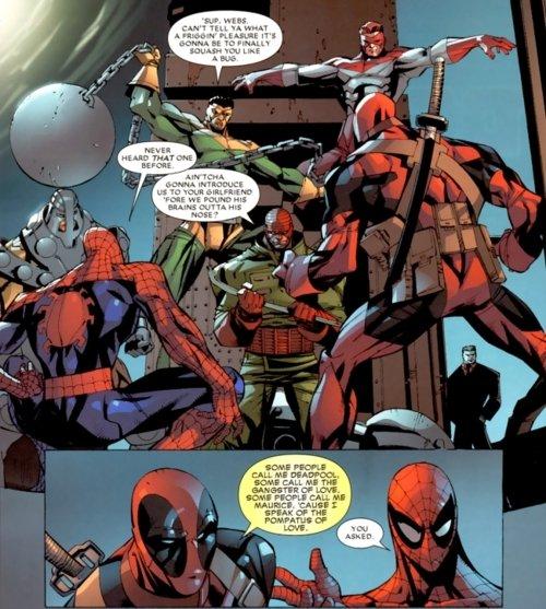 """Gangster of love. Oh Deadpool you joker. an IRM, V IE SPF. W LINEAR H. Haat TIDE = 'iill"""" Neilio: MUN' Br:, far. Fabulous. Spiderman Deadpool"""