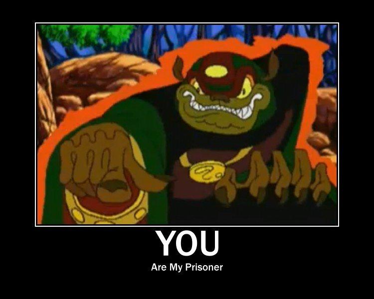 Ganon. Ganon evil...yeah..bad guy.. rape face rofl Ganon Capsure Zelda