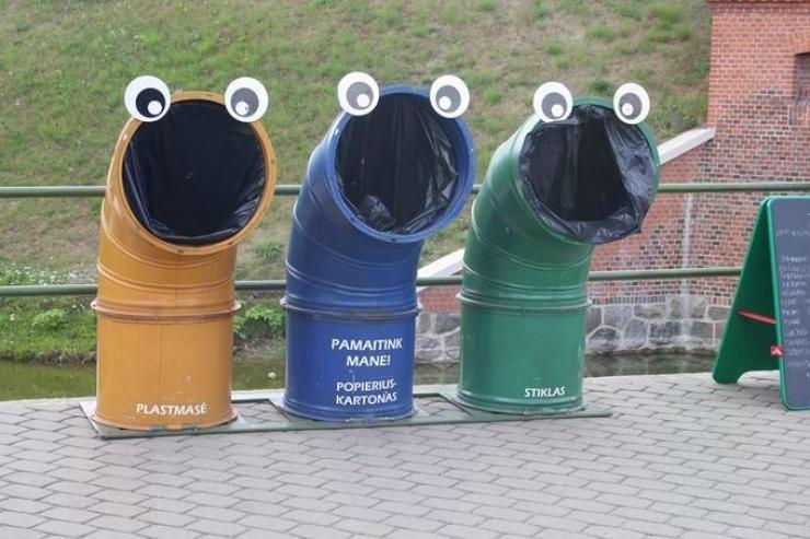 Garbage containers in Lithuania. .. yepyepyepyepyepyep
