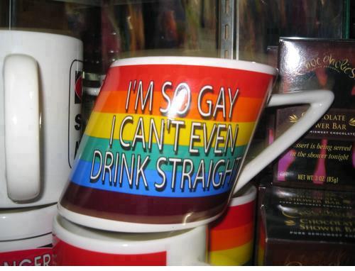 Gay. So gay.. OP's cup Gay Swag Penis
