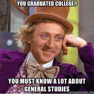 General Studies. . Willy Wonka Education Failure