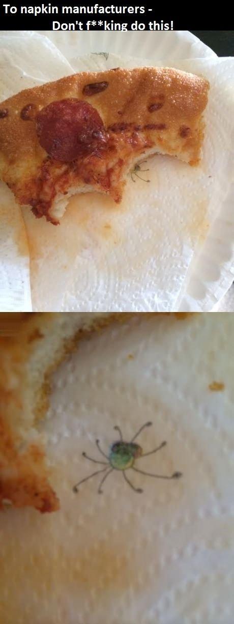 Genius napkin designer. . To napkin manufacturers - Don' t f kin do this! funny pics Food pranks