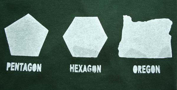 Geometry. not mine. PENTAGON HEXAGON OREGON. Porygon