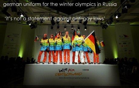 German sense of humor.. . uniform for the c) Russia