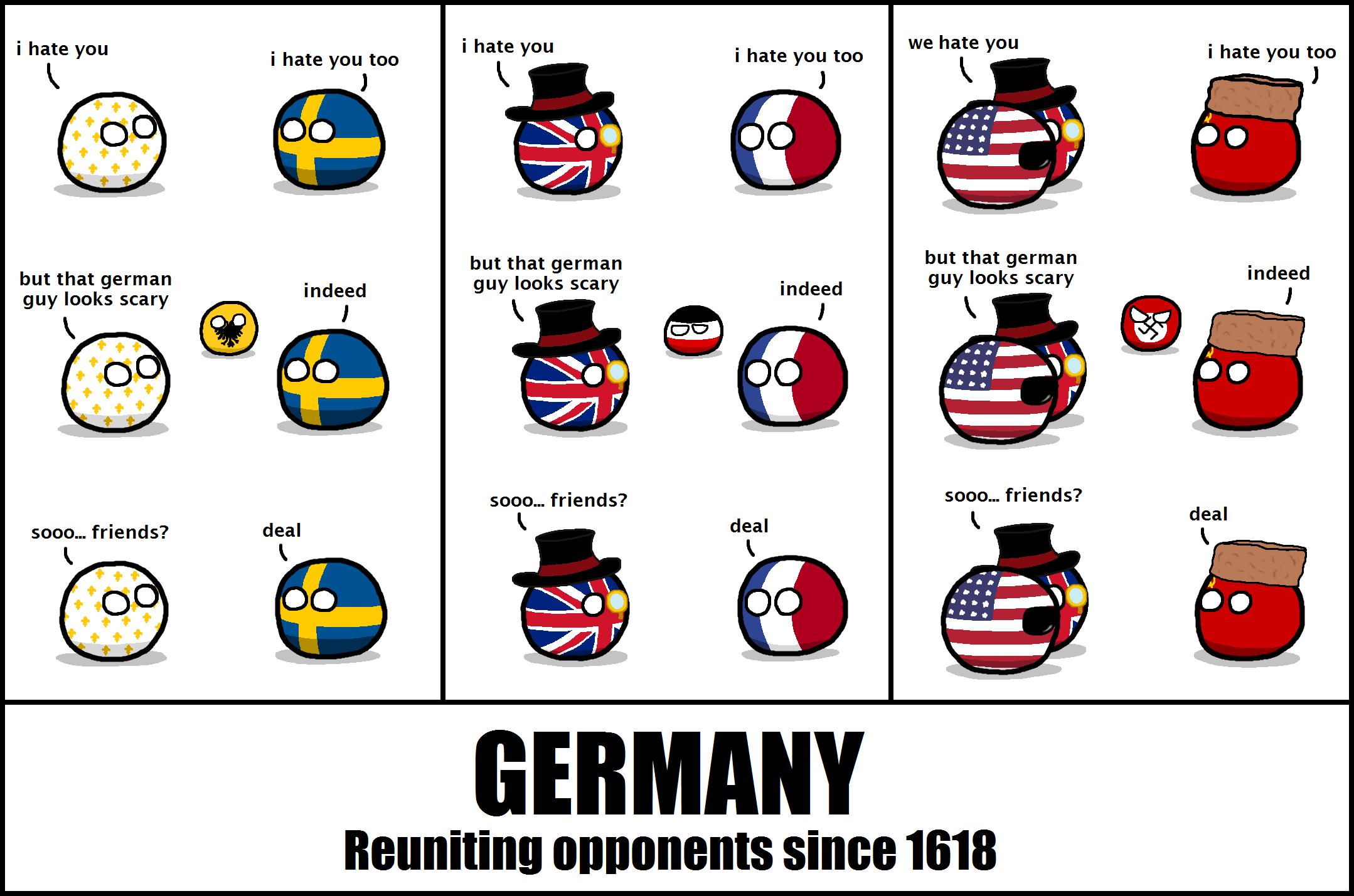 "Germany is.... r/polandball (Cerf_) . i hate you i hate you we hate you i hate you too K I hate you) too K I ate ""I' too K J but that german but that german but Polandball germany 2spooky4me"
