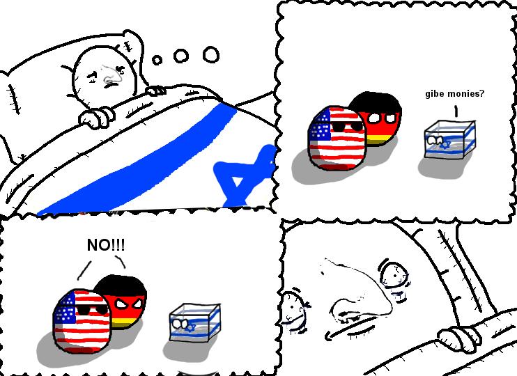 Germoney yuo is of nazi!. . Polandball israelcube germanyball usaball
