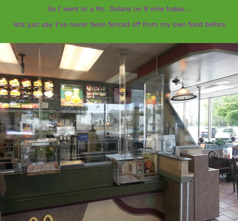 Gheto Dolans. address is McDonald's 22021 8 Mile Rd Detroit, MI 48219.. Ah yes, 8 Mile, the Detroit of Detroit.