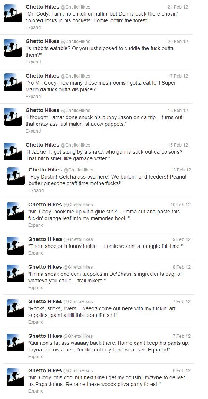 Ghetto Hikes. .