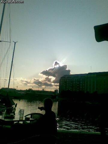 Ghost cloud. ghost cloud in Finland.