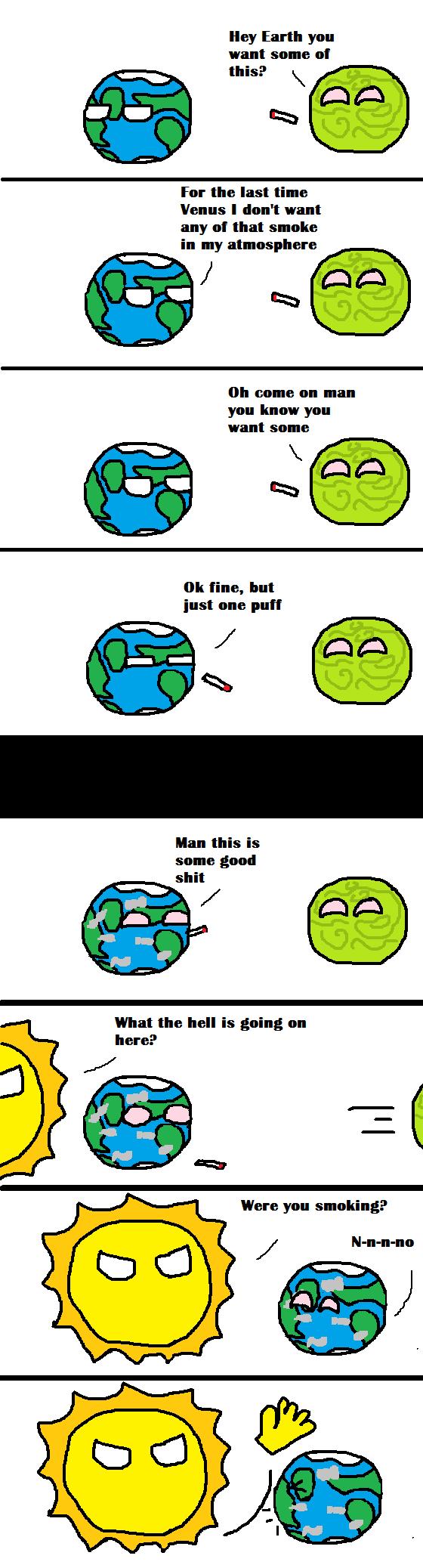 Global Warming. sort of like country ball comics. global warming OC