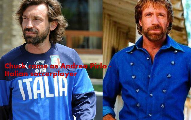 Goal!. chuck and his clon Andrea Pirlo soccer italian player.. The Hound Chuck