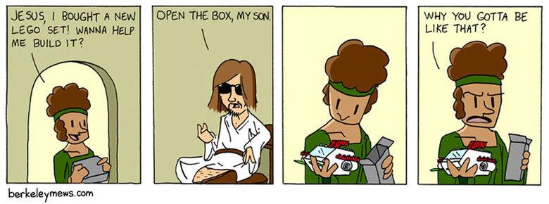 "God Dammit, Jesus. . JESUS,; New tothm"" was SET! wanna HELP Met Bum» IT'?"