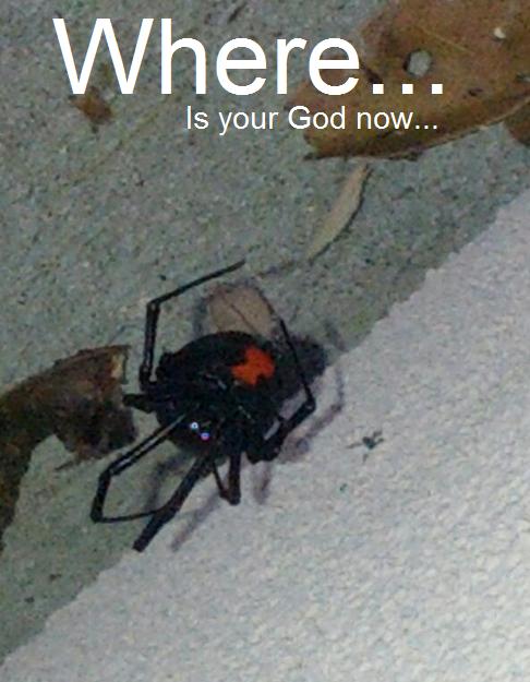 God.... help me... i beg. Meh. your God now...