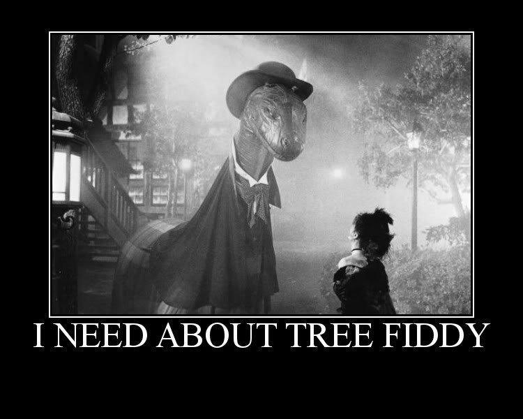 god dam loch ness monster. ain't gettin my tree fiddy. loch ness monster