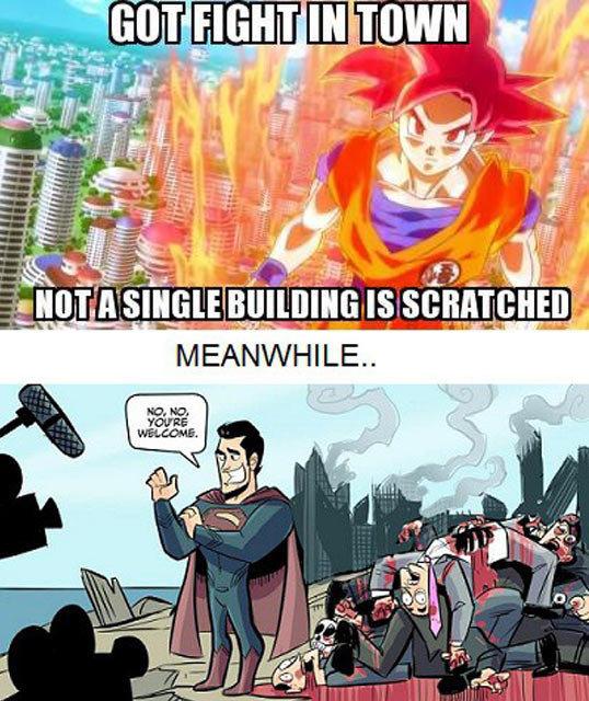 Goku vs. Superman Goku Vs Superman Science