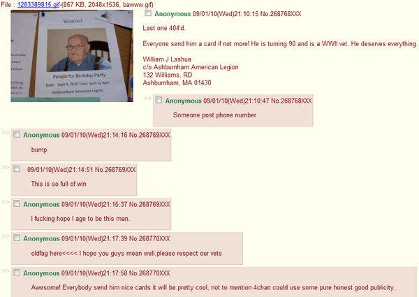 Good guy 4chan. . Last INN 4( M' d Everyone and him a card inatt mm! He is tummy ED and is a WWI -rat. Nit magma mi. Womn, l Lama ch: American Legion 132 Willia