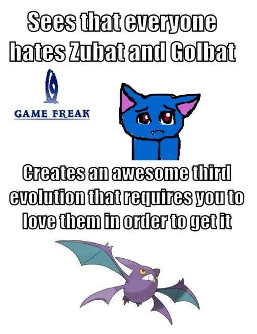 Good guy gamefreak. crobat <3. rariry) GAME FREAK ''