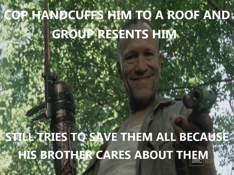 Good Guy Zombie Merle. when Darryl started crying........feels, man.. Ill' r A viii. lli: ii, ',, ?' CARES ABOUT THEM. Enjoy your feels. feels walkingdeadtime