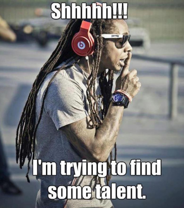 Good luck, you untalented fuck.. .