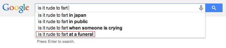 Google 2. bonus material: uk.answers.yahoo.com/question/index?qid=20110327231411AATeGQZ. Google l is it rude be farta 4, 1, E is it rude be fart in japan is it