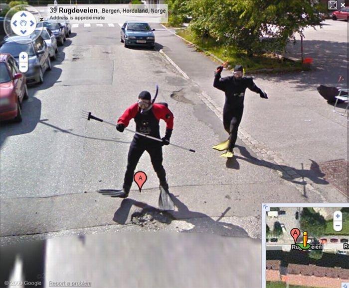 Google street view. . 39 . Bergen, Hurrahed. Hwy: h. It's Scuba Steve. No worries.