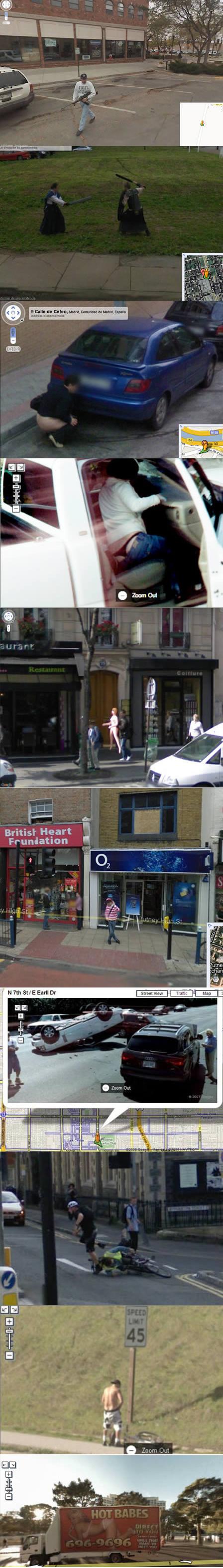 Google Street View. .