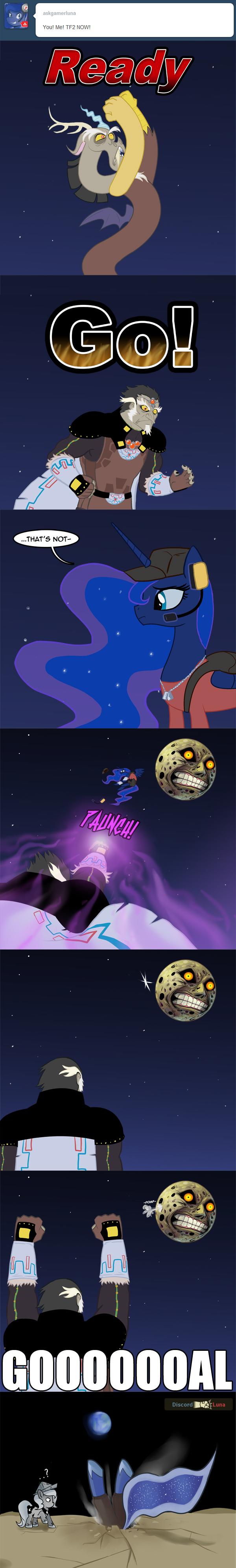 GOOOOOOAL!. source: .. Now, fight me. MLP tumblr Discord Ganondorf Gamer Luna The moon goal