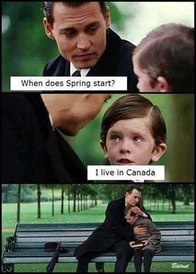 Gotta Love Canada. .. It snowed last night. spring canada Weather kids funny lol