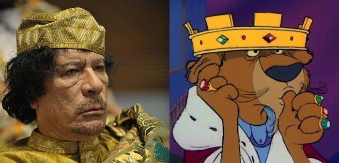 gotta be twins. .. Don't worry, I thumbed up...I just dislike dictators. Gaddafi