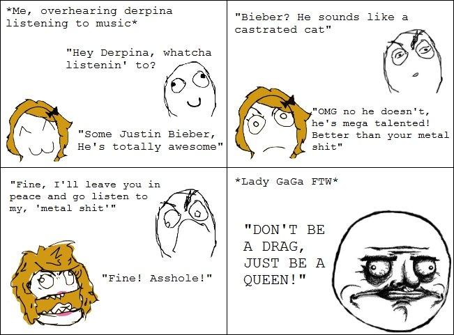 Gotta Love GaGa. first rage comic, go easy. lady gaga rage